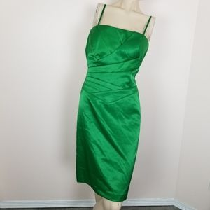 JS collections green fitted pinup retro dress 12